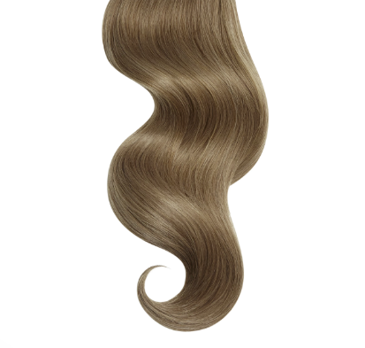 Natural Curly #9 Light Ash Brown Human Hair Extensions