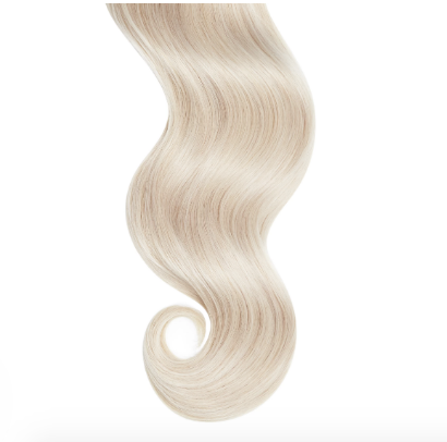 Natural Curly #60 Platinum Blonde Human Extensions
