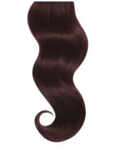 #Eggplant Red Straight Human Hair I Tip Extensions