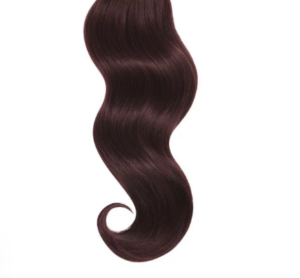 Natural Curly #Eggplant Red Human Hair Extensions