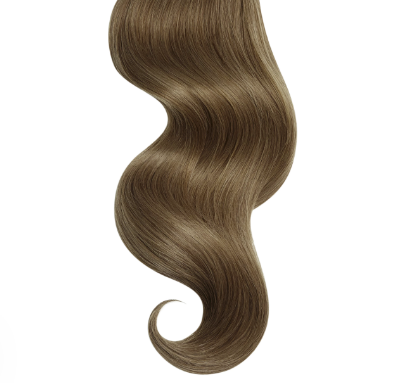 #8 Honey Brown Straight Human Hair I Tip Extensions