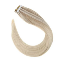 Load image into Gallery viewer, #Nordic Ash Blonde Balayage Human Hair Tape In Extensions