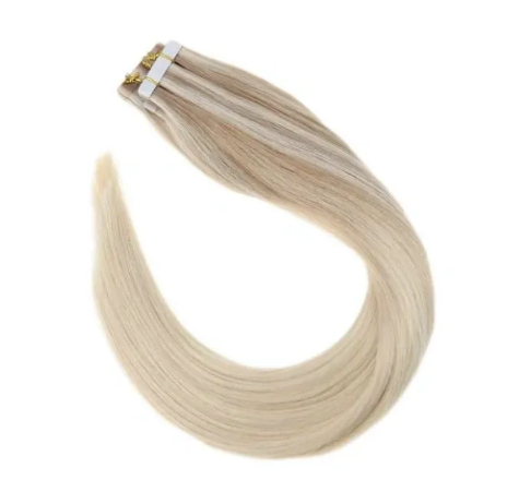 #Nordic Ash Blonde Balayage Human Hair Tape In Extensions