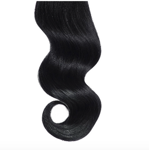 #1 Black Human Hair Clip In Ponytail