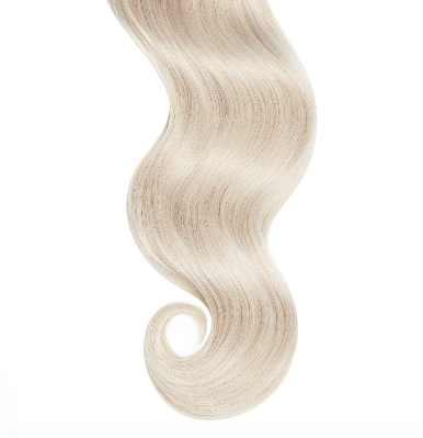 #60 Platinium Blonde Human Hair Clip In Extensions