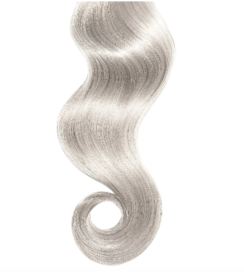 #Silver Human Hair Clip In Extensions