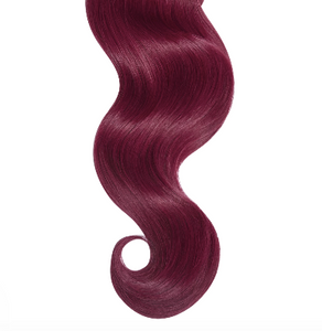 #99J Cherry Wine Human Hair Halo Hair Extensions