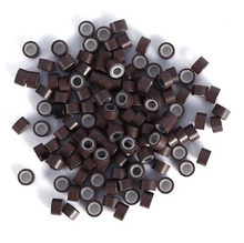 Load image into Gallery viewer, 5.0mm Brown Silicone Lined I Tip Extension Beads