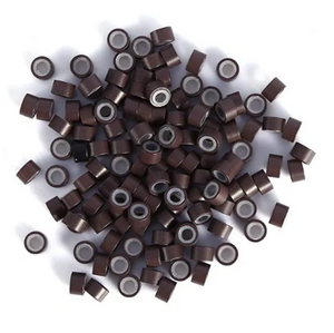 5.0mm Brown Silicone Lined I Tip Extension Beads
