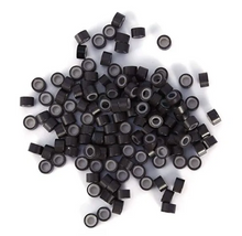 Load image into Gallery viewer, 5.0mm Dark Brown Silicone Lined I Tip Extension Beads
