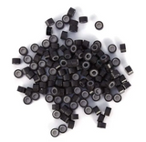 5.0mm Dark Brown Silicone Lined I Tip Extension Beads