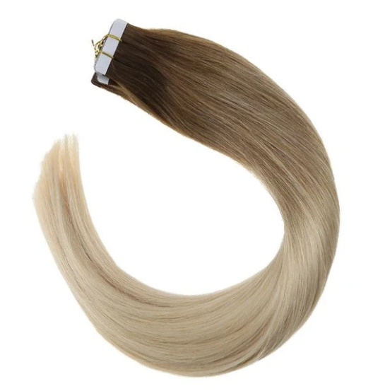 #6/613 Brown Mixed Blonde Balayage Human Hair Tape Ins Extensions