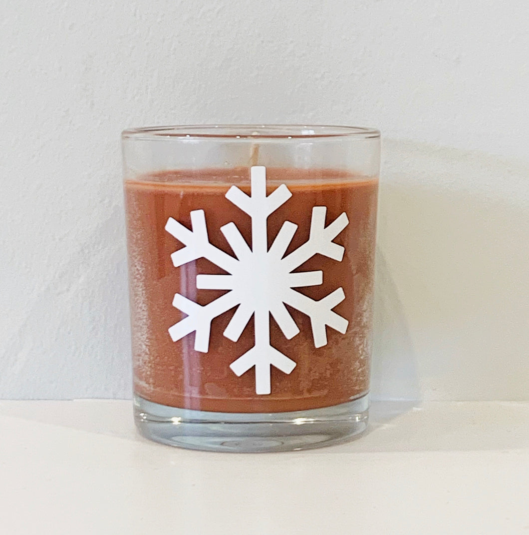 Christmas snowflake limited edition candle