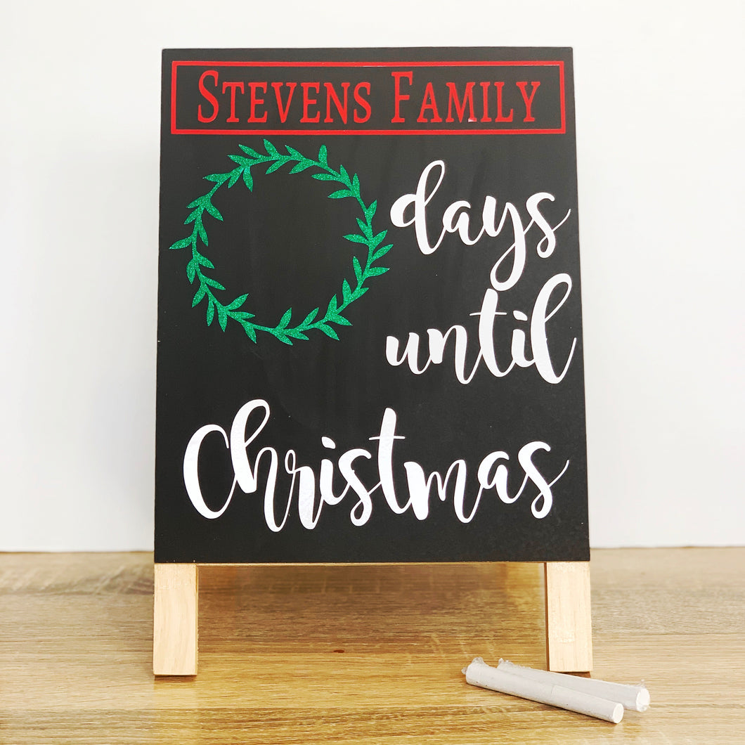 Christmas Countdown Board
