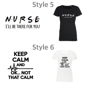 Ladies Nurse & Midwife T-shirts