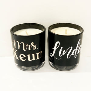 Customised teacher candle