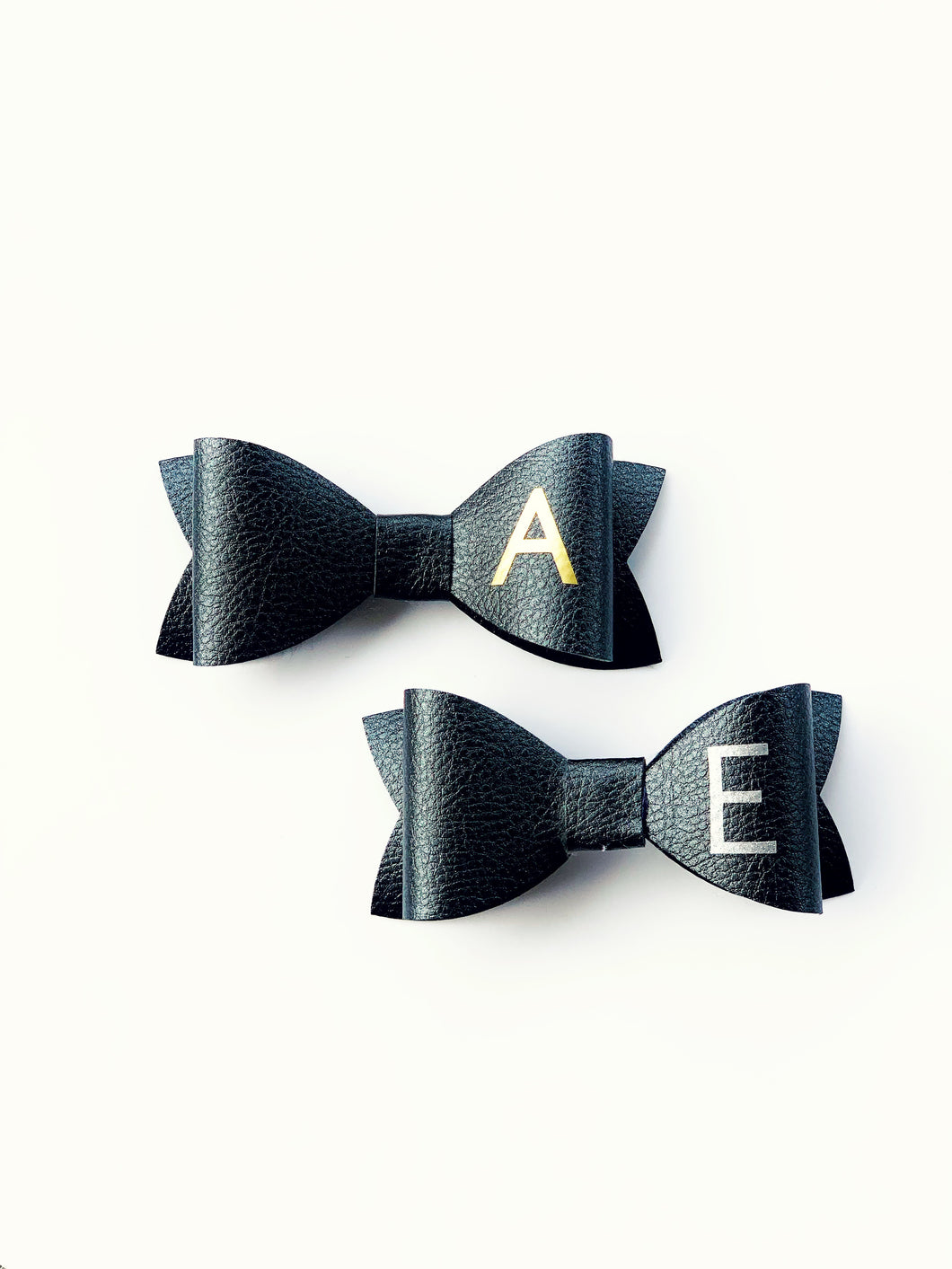 Customised Initial Leather Bow