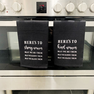 'Here's to' Tea Towel