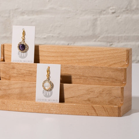 Wooden charm/earring Display