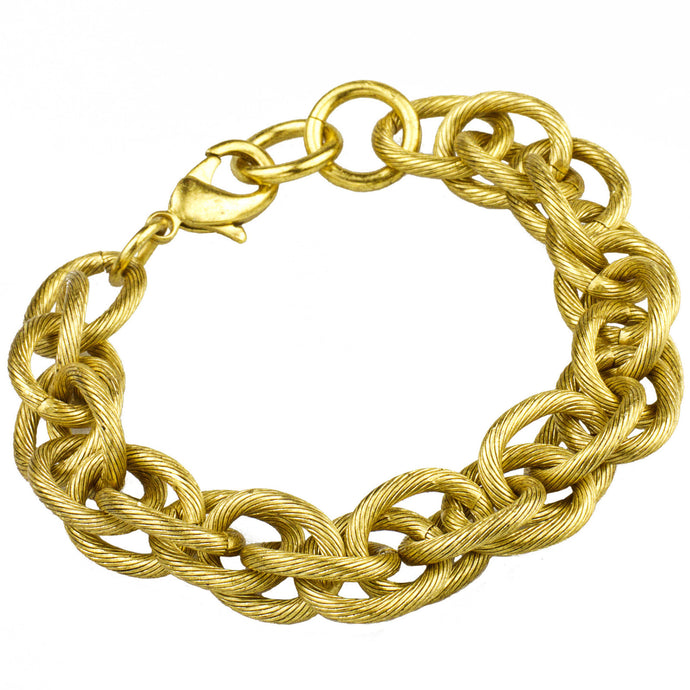 Rope Chain Bracelet, Gold (M2)