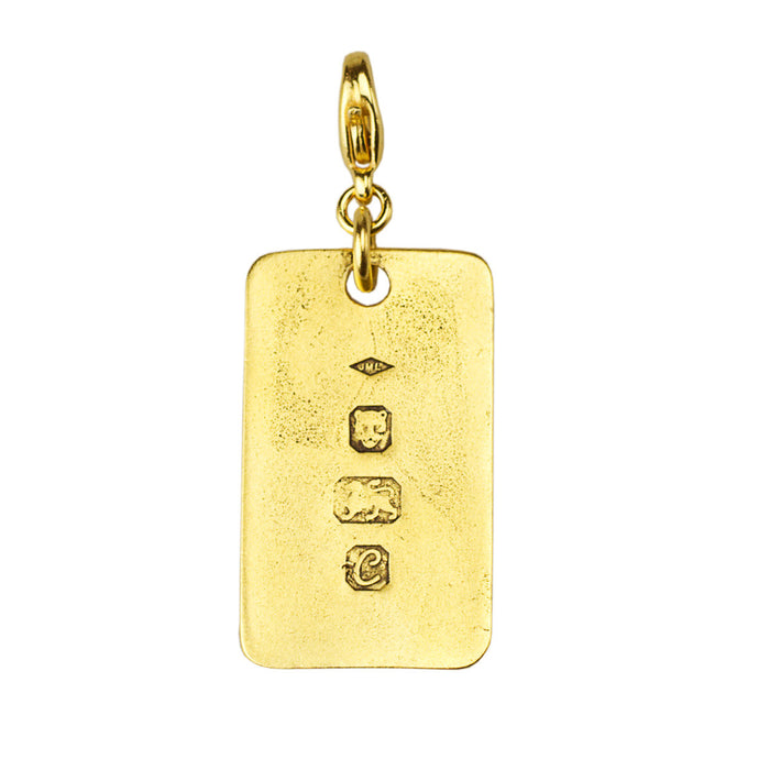 Stamped Dogtag Charm (M2)