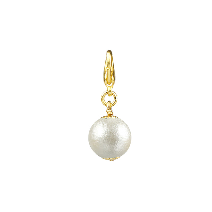 Cotton Pearl Charm 15 mm (M2)