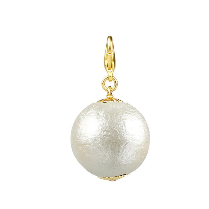 Cotton Pearl Charm- 25 mm (M2)