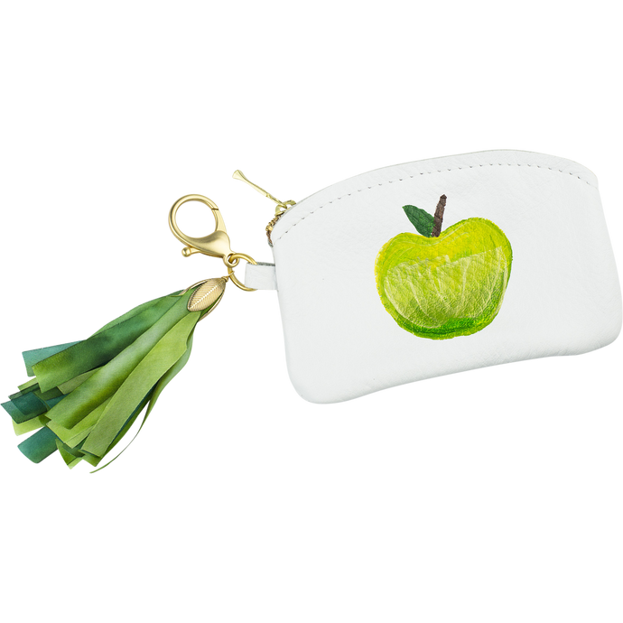 Ltd. Hand Painted Apple Coin Purse, M2