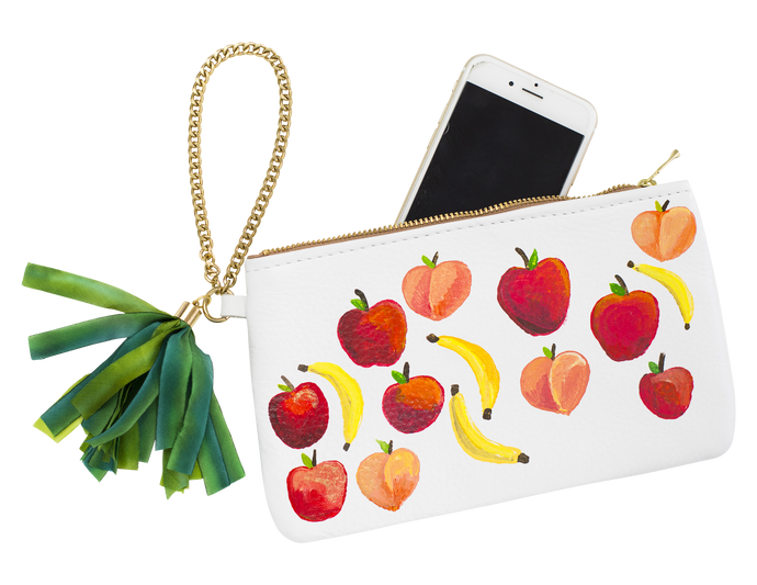 Ltd. Hand Painted Fruits Clutch, M2