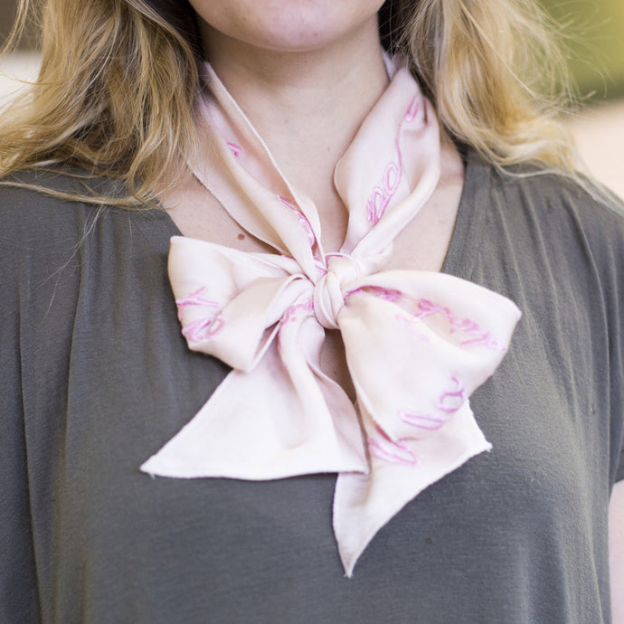 French Ribbon Scarf, Pink