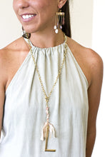 "NEW! 30"" Lariat Ribbon Initial Necklace"