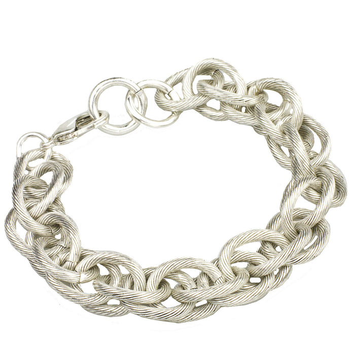 Rope Chain Bracelet, Silver  (M2)