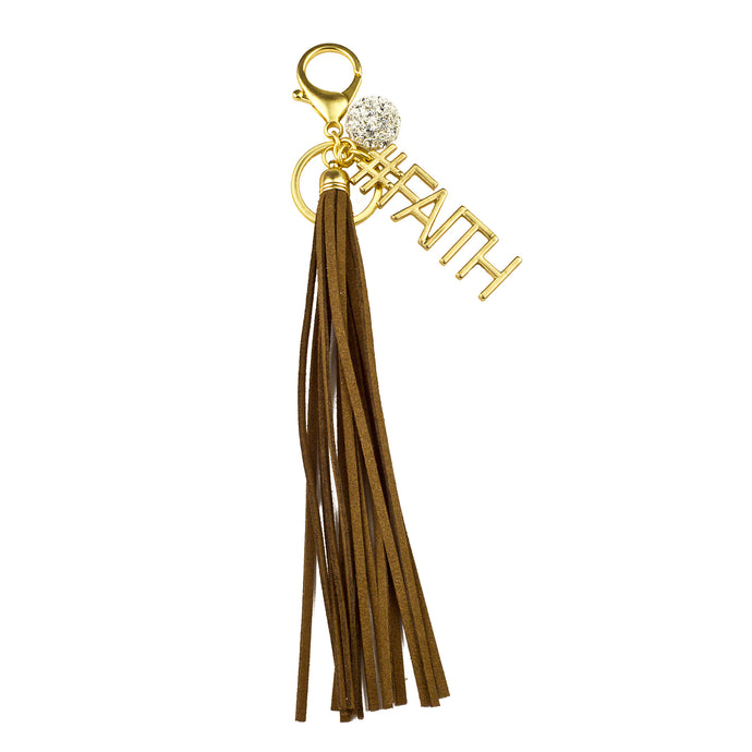 #FAITH Vegan Leather Tassel Bag Charm (M2) NOW $6.75