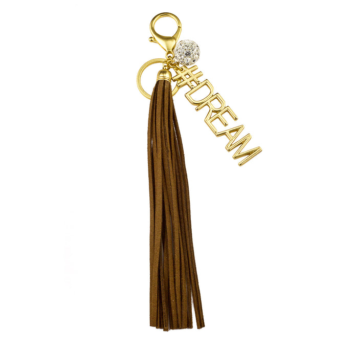 #DREAM Vegan Leather Tassel Bag Charm (M2) NOW $6.75