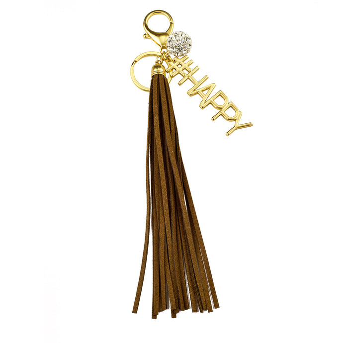 #HAPPY Vegan Leather Tassel Bag Charm (M2) NOW $6.75