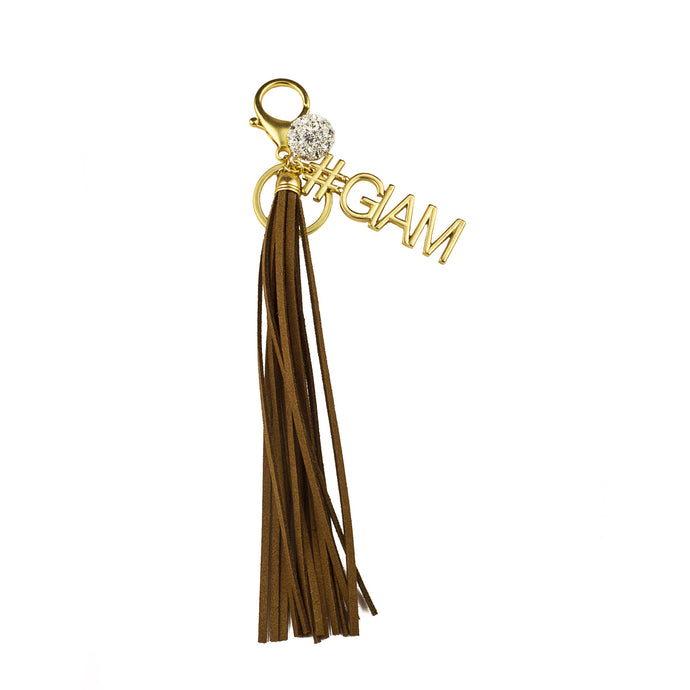#GLAM Vegan Leather Tassel Bag Charm (M2) NOW $6.75