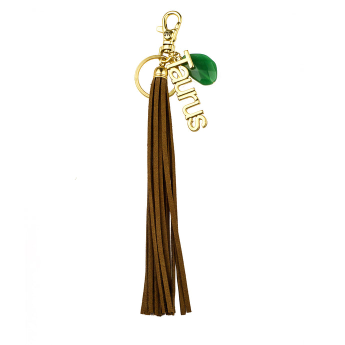 Taurus Vegan Leather Tassel Bag Charm (M2) NOW $6.75