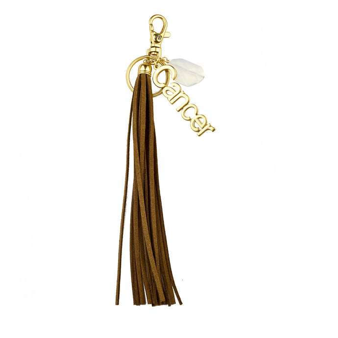Cancer Vegan Leather Tassel Bag Charm (M2)  NOW $6.75