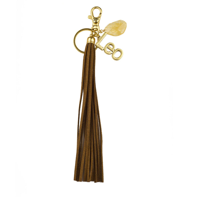 Leo Vegan Leather Tassel Bag Charm (M2)