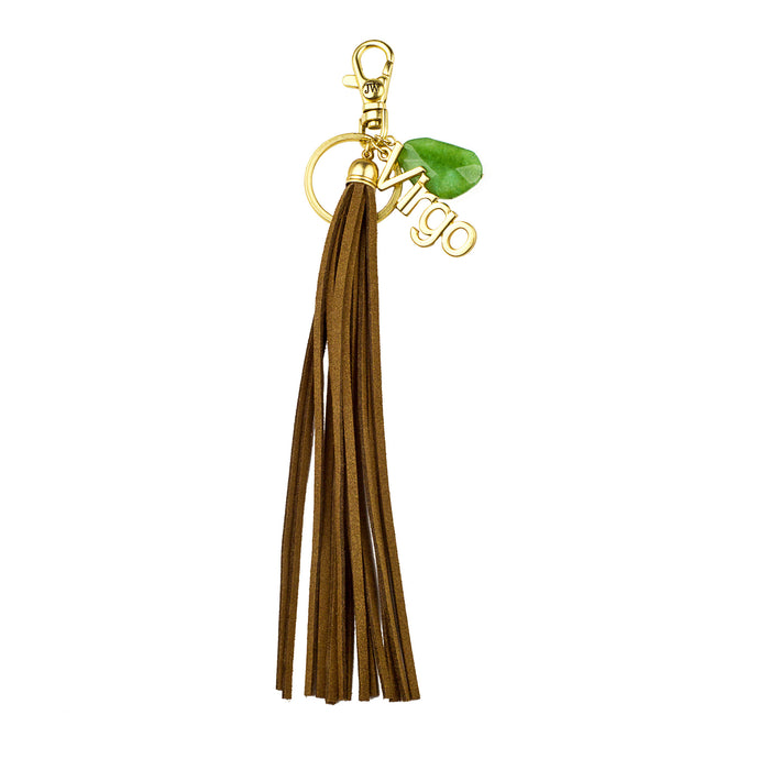 Virgo Vegan Leather Tassel Bag Charm (M2) NOW $6.75