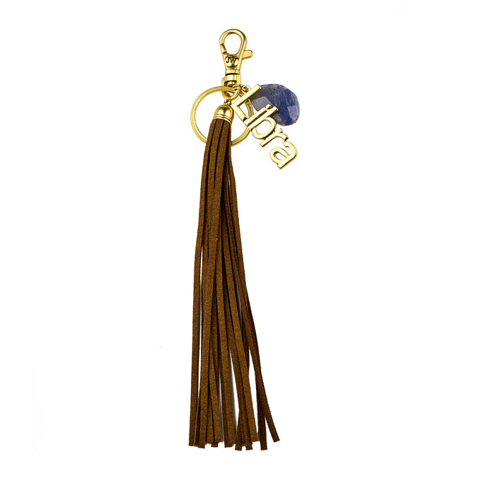 Libra Vegan Leather Tassel Bag Charm (M2)