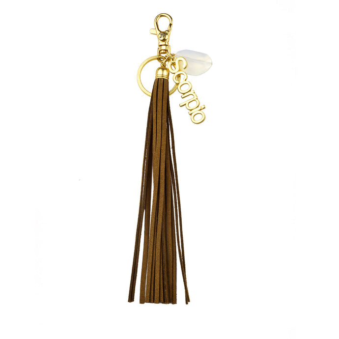 Scorpio Vegan Leather Tassel Bag Charm (M2) NOW $6.75