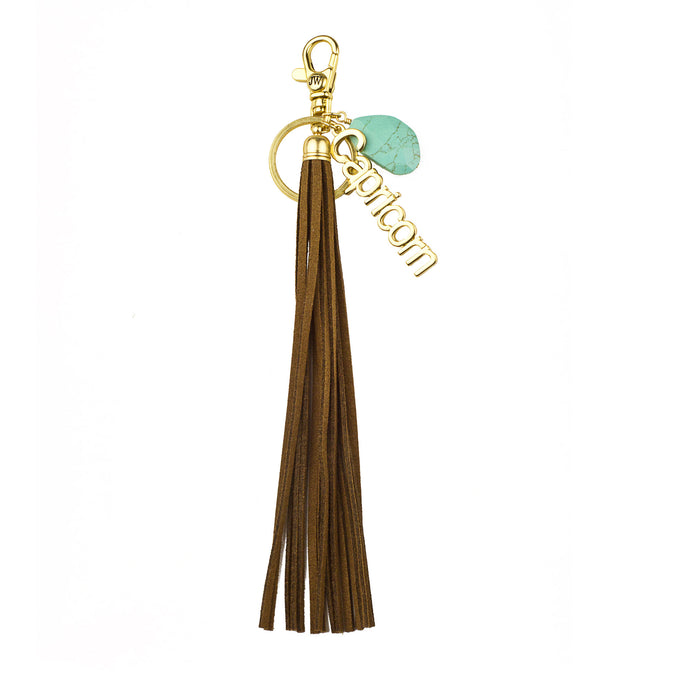 Capricorn Vegan Leather Tassel Bag Charm (M2) NOW $6.75