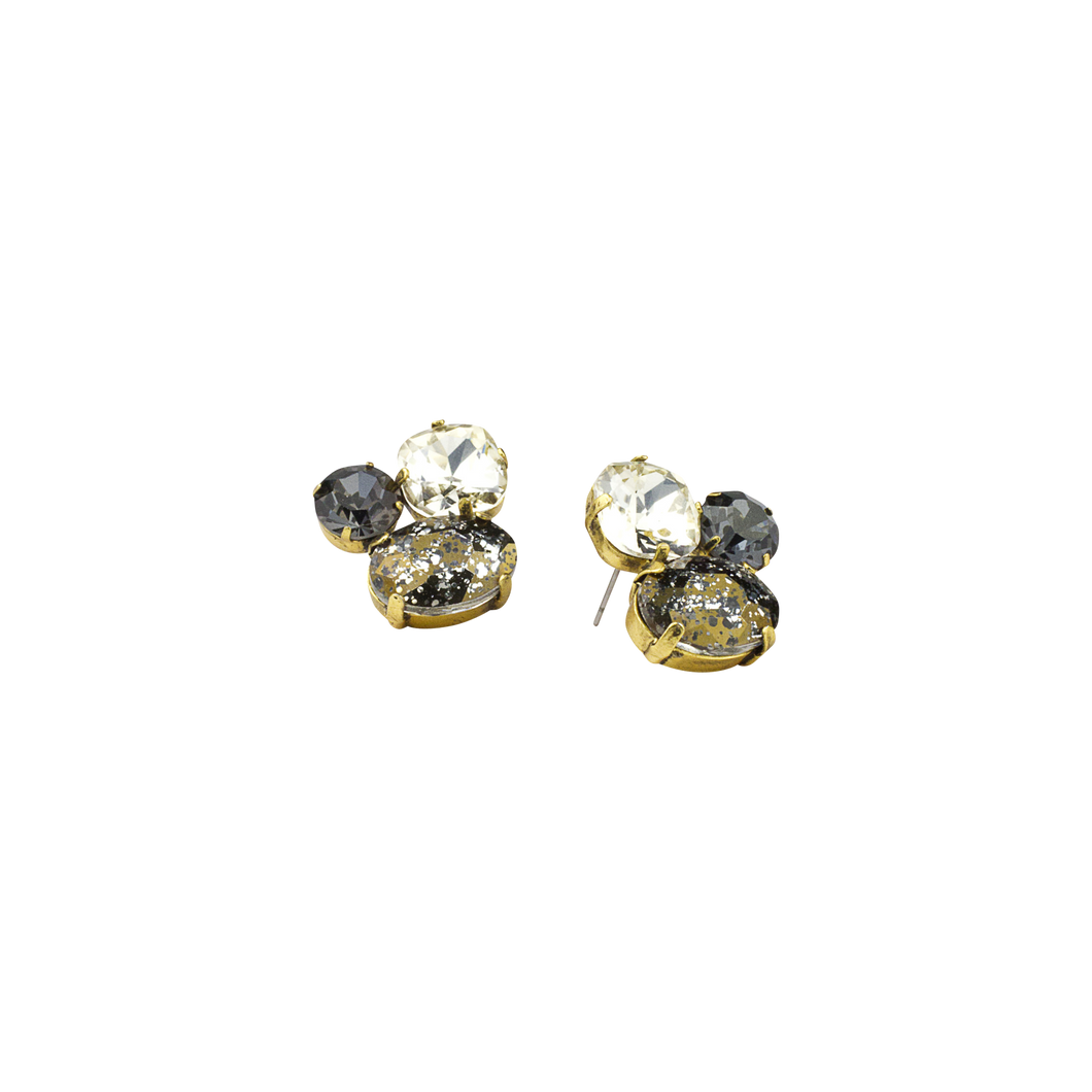 Smokey Cluster Cocktail Earring (M2)