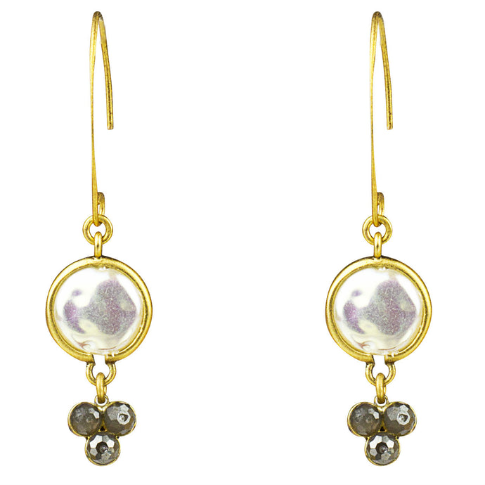 Mother of Pearl Hammer Drop Earring, M2
