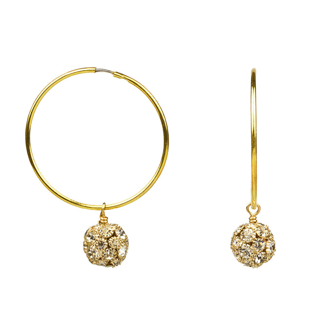 Infinity Crystal Hoop Earrings in Gold (M2)