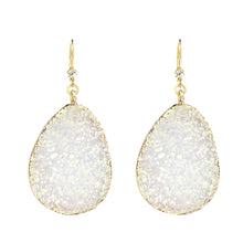 "2.5"" Druzy Drop Earring, M2"