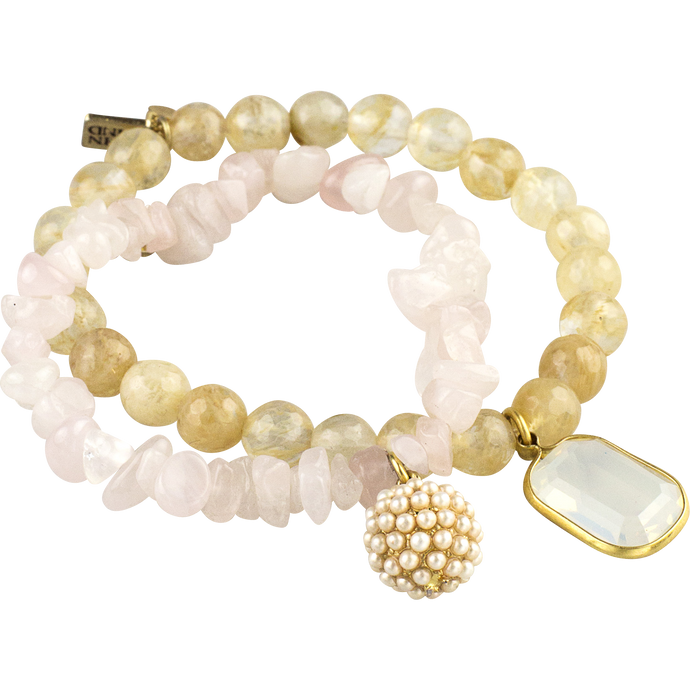 Set 2, Pearl Arm Candy Bracelets