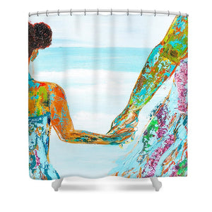 BY THE OCEAN - Shower Curtain