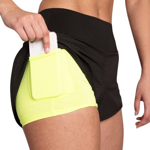 Drive Running Shorts+ Black/Yellow